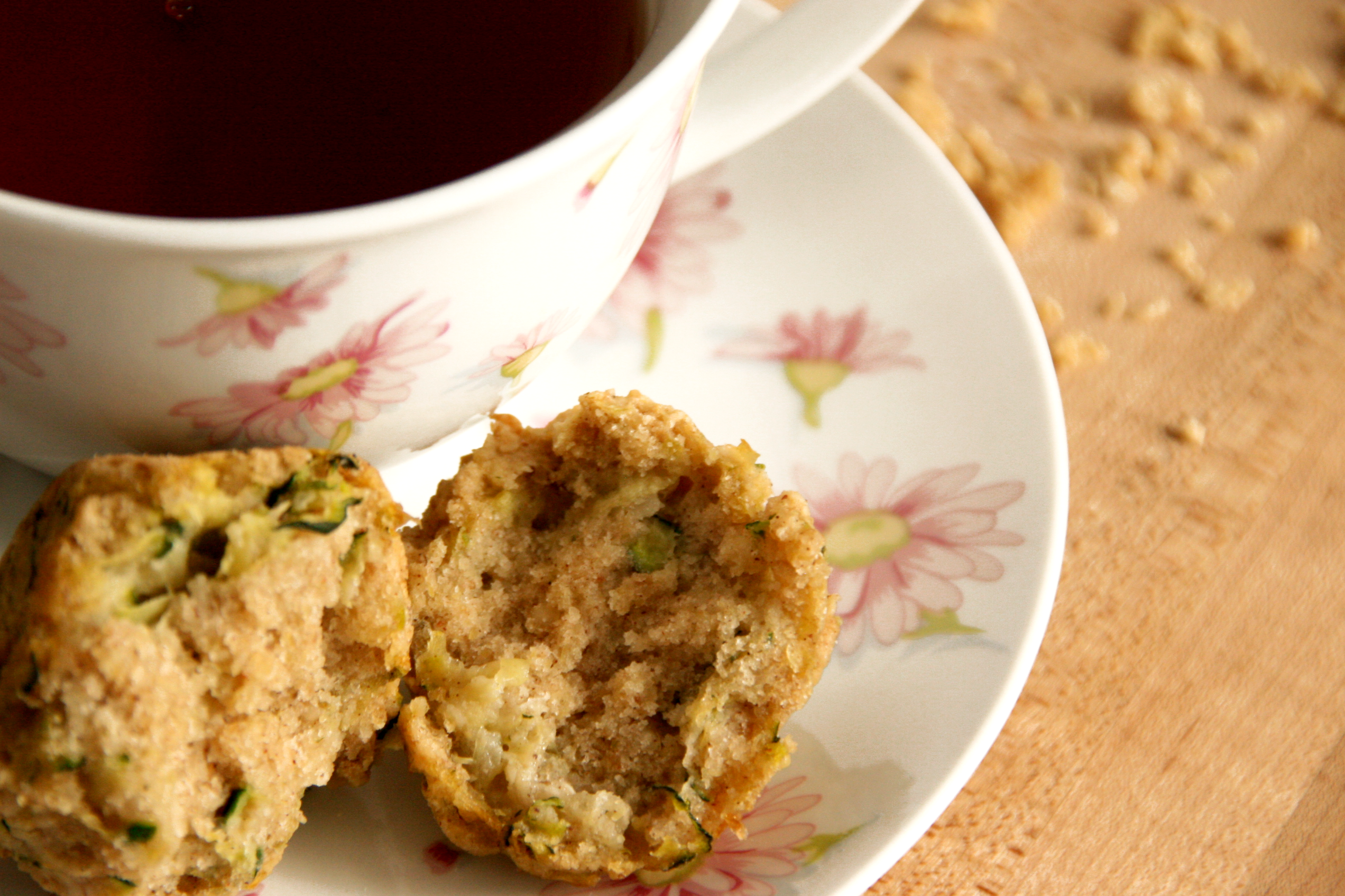 Maple Sweetened Almond Zucchini Mini-Muffins Recipe — Dishmaps